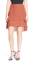 1 STATE 1.State Tiered Hi-Lo Skirt