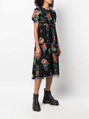 R 13 Treasures-print midi T-shirt dress