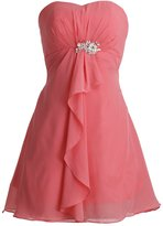 Fashion Plaza Bridesmaid Dress Short Chiffon A-line Sweetheart D0333