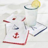 Sur La Table Nautical Icons Cocktail Napkins, Set of 4