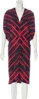 Zero Maria Cornejo Abstract Print Silk Dress