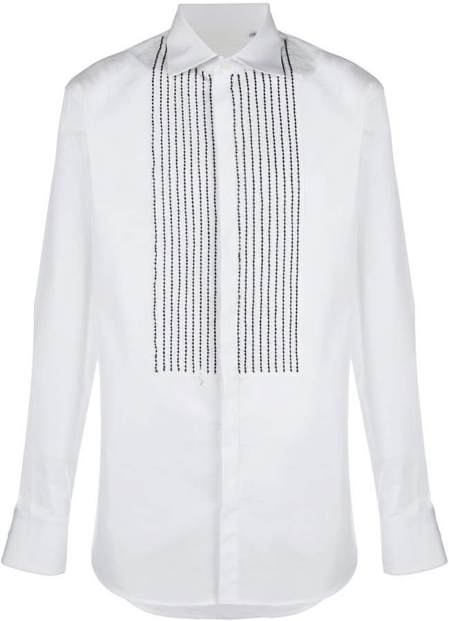 DSQUARED2 beaded tuxedo shirt