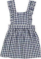 Sweet & Soft Blue & White Gingham Apron Dress - Infant