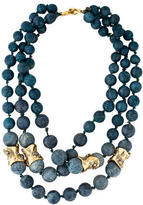 Alexis Bittar Pyrite & Sponge Coral Multistrand Necklace
