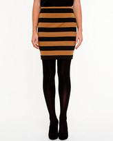 Le Château Stripe Ponte Mini Skirt