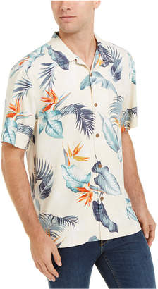 Tommy Bahama Men Bird Eye View Classic-Fit Floral-Print Silk Camp Shirt