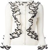 Alexander McQueen ruffled cardigan - women - Wool - M