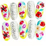 Manicure Print Tool DIY DZT1968 Women's DIY Nail Sticker Water Transfer Stickers Finger Nail Art Decals (I)