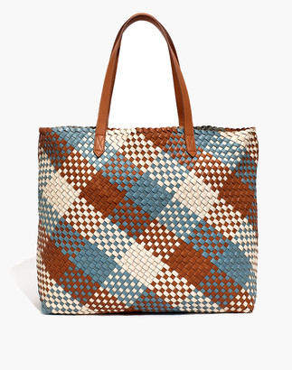Madewell The Transport Tote: Multicolored Woven Leather Edition