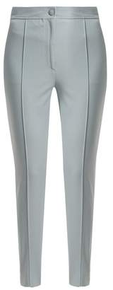 Joseph Juno Stirrup-hem Cotton-blend Trousers - Womens - Light Blue
