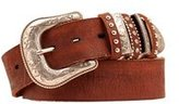 Nocona Women' Bedecked Multi Keeper Leather Belt Brownmall