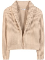 Vince Knitted Wool And Cashmere Cardigan