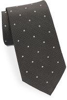 Black Brown 1826 Classic Polka Dot Tie