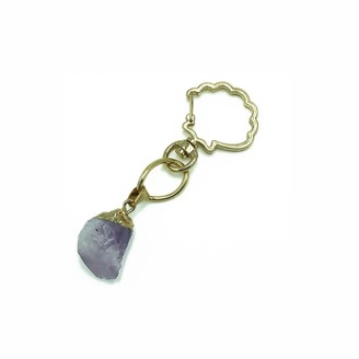 Stranger Than Them Healing Crystal - Soothe - Amethyst Gold Shell Key Chain / Bag Clip