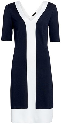 St. John Colorblock Milano Knit Midi Dress