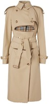 Burberry Deconstructed Cotton And Shearling Trench Coat
