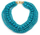 Kenneth Jay Lane Seven Row Turquoise Necklace