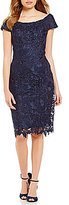 JS Collections Off-The-Shoulder Lace Sheath Dress