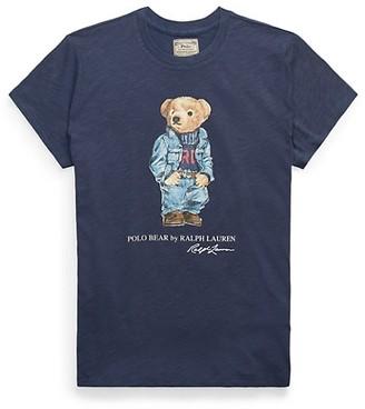 Polo Ralph Lauren Denim Polo Bear Graphic T-Shirt