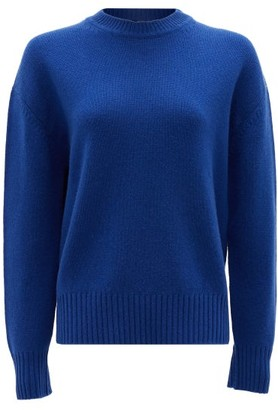 Roche Ryan Crew-neck Cashmere Sweater - Womens - Blue
