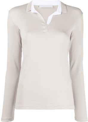 Fabiana Filippi long sleeved polo shirt