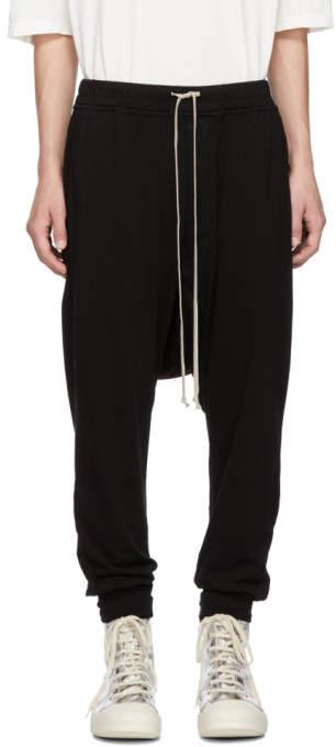 Rick Owens Black Prisonner Drawstring Lounge Pants