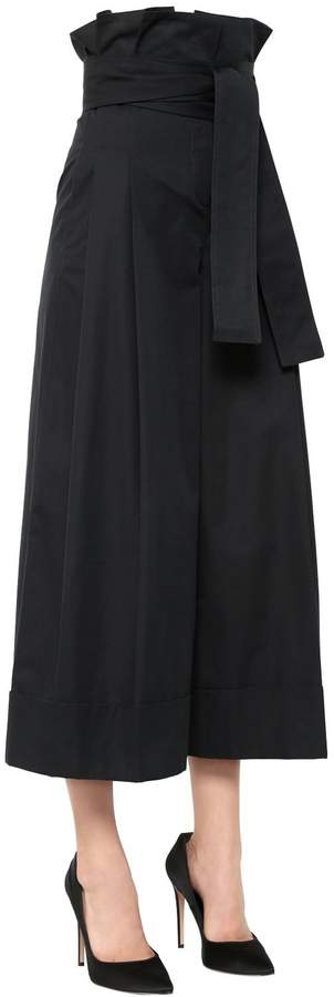Alexander McQueen Cotton Gabardine Wide Pants