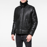 Paul Smith Men's Black Sheepskin Flight Jacket