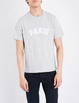 Sandro Paris-appliqué cotton-blend T-shirt