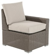 Threshold Heatherstone Wicker Patio Sectional Left Arm Chair
