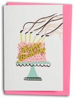 Oliver Bonas Happy Birthday Cake Card