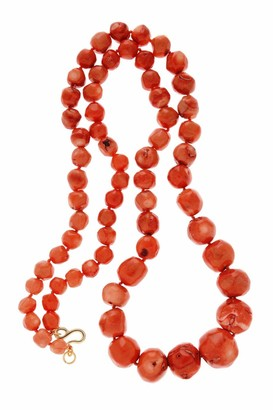 Kenneth Jay Lane LATIFA Coral Stones Necklace