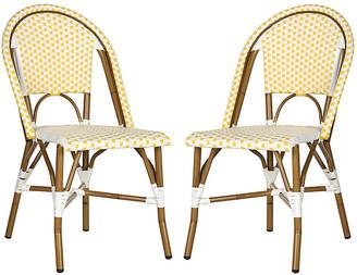 One Kings Lane Sasha Bistro Side Chairs - Yellow