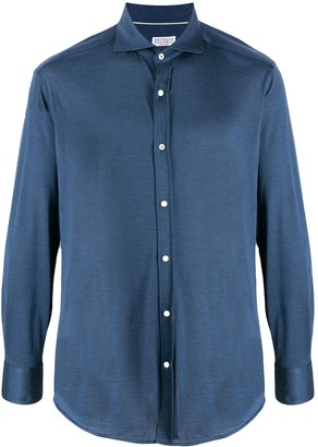 Brunello Cucinelli Spread-Collar Jersey Shirt