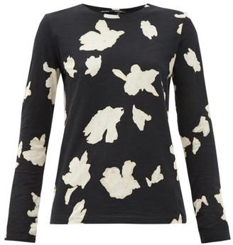 Proenza Schouler Iris-print Cotton Long-sleeved T-shirt - Black Multi