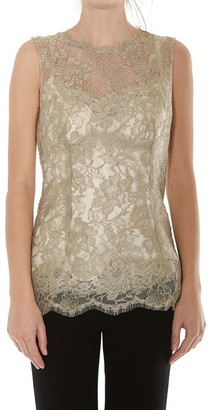 Dolce & Gabbana Lace Sleeveless Blouse