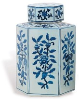 The Well Appointed House Blue and White Four Seasons Porcelain Jar, Large