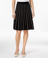 Calvin Klein Striped Fit & Flare Skirt