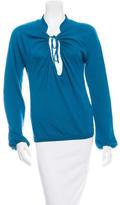 Saint Laurent Wool Long Sleeve Sweater