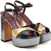 Marc by Marc Jacobs Embossed Leather Platform Sandals