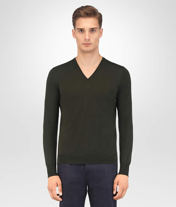 Bottega Veneta DARK MOSS MERINO SWEATER