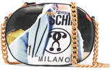Moschino Printed Pvc Shoulder Bag - Black