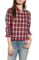 DL1961 Women's X The Blue Shirt Shop W 3Rd & Sullivan Crop Shirt