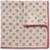 Brunello Cucinelli - Medallion-print Wool Pocket Square