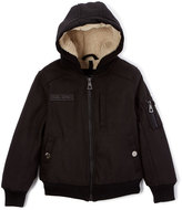 Urban Republic Black Hooded Bomber Jacket - Toddler & Boys