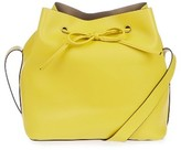 Topshop Stella Faux Leather Bucket Bag - Yellow