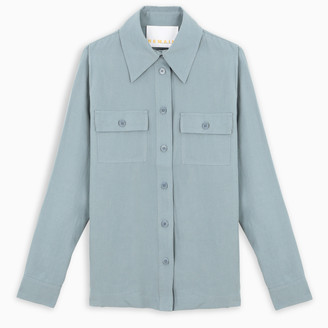 REMAIN Birger Christensen Light blue Zizi shirt