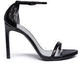 Stuart Weitzman 'Nudist Song' crack effect leather sandals