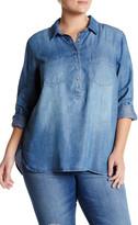Jessica Simpson Long Sleeve Denim Shirt (Plus Size)