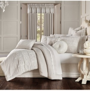 J Queen New York J Queen Lauralynn Beige 4pc. Comforter Set Bedding
